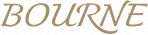 BOURNE logo in gold - transparent cropped