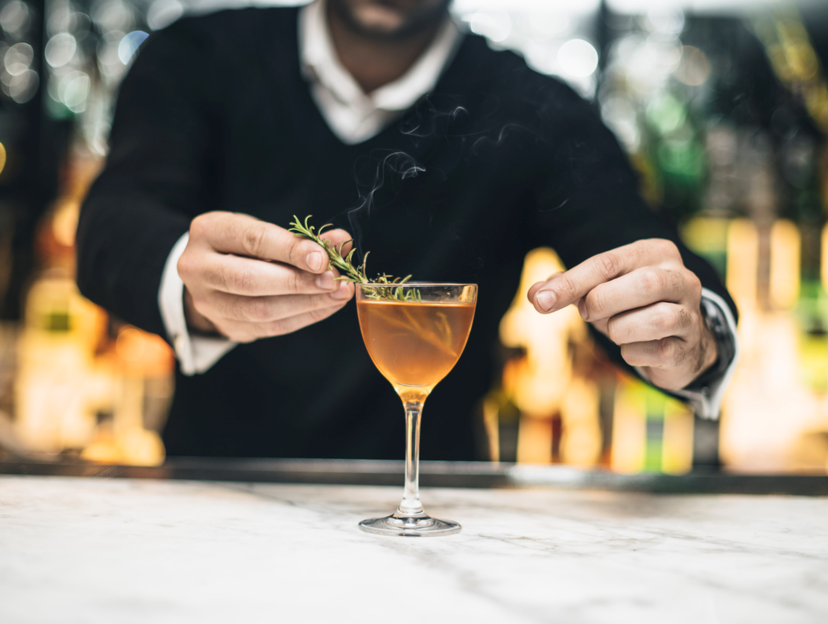 Cocktail perfected by Barman.